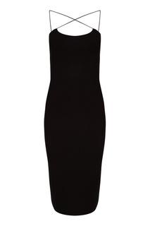 Черное платье на бретелях Alexander Wang
