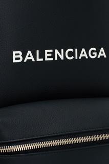 Черный кожаный рюкзак Everyday Balenciaga