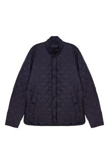 Синяя стеганая куртка Z Zegna