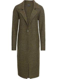 Пальто вязаное (темно-зеленый меланж) Bonprix