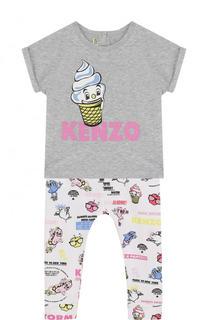 Хлопковая пижама с принтом Kenzo
