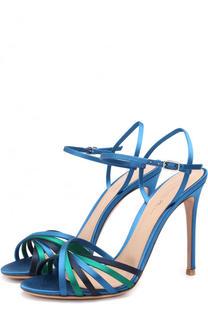 Атласные босоножки Dalida на шпильке Gianvito Rossi