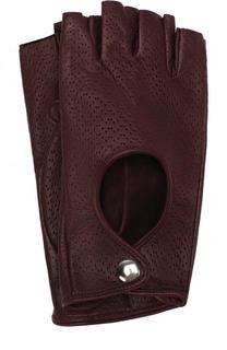 Кожаные митенки с перфорацией Sermoneta Gloves