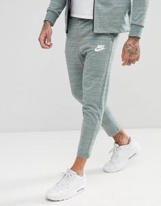 Зеленые облегающие джоггеры Nike 885923-365 - Зеленый