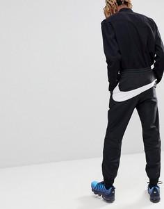 Черные джоггеры с большим логотипом Nike Vaporwave AJ2300-010 - Черный