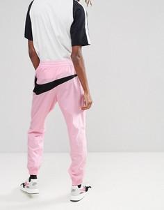 Розовые джоггеры с большим логотипом Nike Vaporwave AJ2300-686 - Розовый