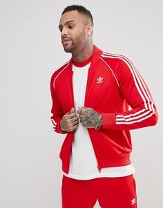 Красная спортивная куртка adidas Originals adicolor CW1257 - Красный