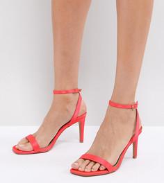 Легкие босоножки на каблуке ASOS HALF TIME - Розовый