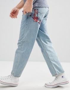 Синие джинсы в стиле 90-х Diesel Dagh - Синий