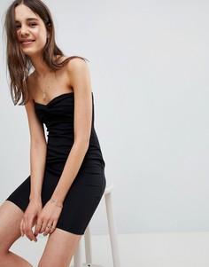 Платье-бандо мини ASOS - Черный