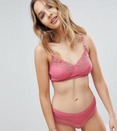 Бюстгальтер в мелкий рубчик с кружевом New Look Maternity - Розовый