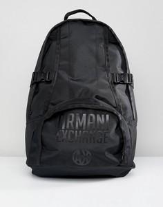Черный рюкзак с логотипом Armani Exchange - Черный