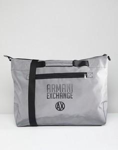 Серая сумка с логотипом Armani Exchange - Серый