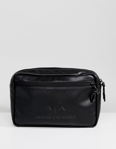 Черная сумка через плечо из искусственной кожи Armani Exchange - Черный