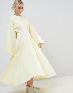 Платье‑кимоно миди ASOS WHITE - Желтый