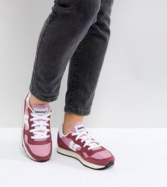 Красно-розовые кроссовки в винтажном стиле Saucony Dxn - Красный