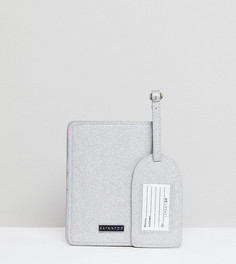 Набор с обложкой для паспорта и багажной биркой Skinnydip FUCK IT - Мульти