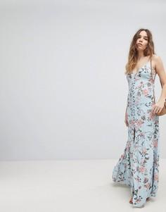 Платье макси с цветочным принтом Flynn Skye - Синий