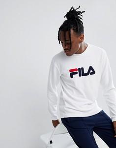 Белый махровый свитшот с логотипом Fila Black Line - Белый