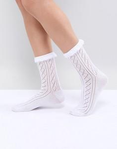 Кружевные носки с оборками ASOS DESIGN - Белый