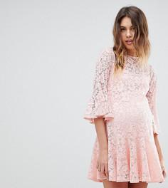 Кружевное свободное платье Queen Bee - Розовый