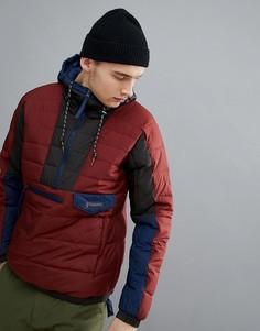 Красно-синий анорак с капюшоном Columbia Norwester - Красный