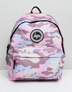 Рюкзак с камуфляжным принтом Hype - Розовый