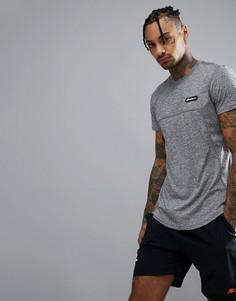 Серая футболка с сетчатыми вставками ellesse Sport - Серый