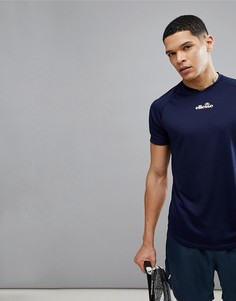 Темно-синяя теннисная футболка с маленьким логотипом ellesse - Темно-синий