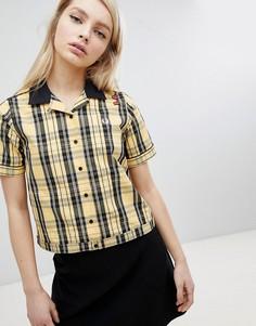 Рубашка для боулинга в клетку тартан Fred Perry Amy Winehouse Foundation - Желтый
