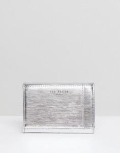 Маленький кошелек с металлической планкой Ted Baker - Серебряный