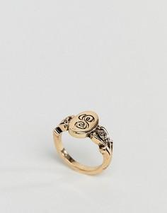 Кольцо с буквой S ASOS DESIGN - Золотой