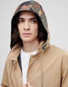 Бежевый макинтош с камуфляжным принтом на капюшоне Herschel Supply Co - Бежевый