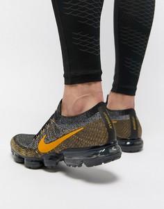 Серые кроссовки Nike Running VaporMax Flyknit Bumblebee 849558-021 - Серый