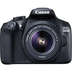 Зеркальный фотоаппарат CANON EOS 1300D KIT kit ( 18-55mm f/3.5-5.6 IS II), черный