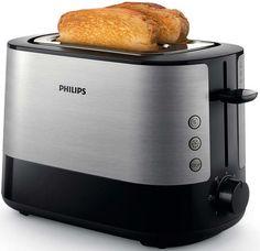 Тостер PHILIPS HD2635/90, серебристый/черный
