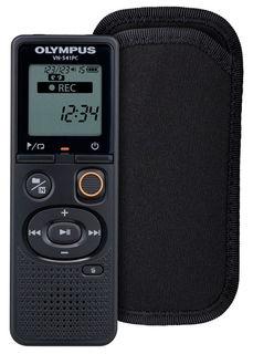 Диктофон OLYMPUS VN-541PC + CS131 soft case 4 Gb, черный