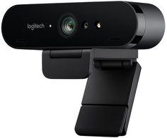 Web-камера LOGITECH Webcam BRIO 960-001106, черный и оранжевый OEM