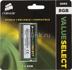 Модуль памяти CORSAIR CMSO8GX3M1A1600C11 DDR3 - 8Гб 1600, SO-DIMM, Ret