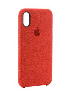 Аксессуар Чехол Innovation Jeans Red для APPLE iPhone X 10788