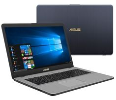 Ноутбук ASUS VivoBook Pro 17 N705UD-GC072T 90NB0GA1-M02140 (Intel Core i7-8550U 1.8 GHz/8192Mb/1000Gb/No ODD/nVidia GeForce GTX 1050 2048Mb/Wi-Fi/Bluetooth/Cam/17.3/1920x1080/Windows 10 64-bit)