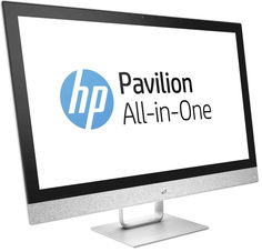 Моноблок HP Pavilion 27-r007ur Blizzard White 2MJ67EA (Intel Core i5-7400T 2.4 GHz/8192Mb/1000Gb/DVD-RW/Intel HD Graphics/Wi-Fi/Bluetooth/Cam/27.0/1920x1080/Windows 10 Home 64-bit)