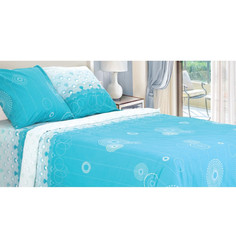 Постельное белье Этель Аквамарин Комплект 1.5 спальный Бязь 1230477