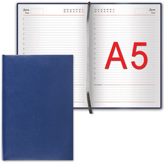 Ежедневник Brauberg Select A5 138x213mm Dark Blue 123430