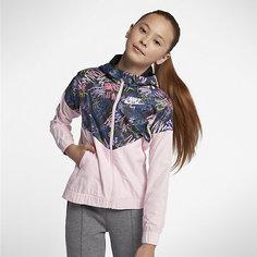 Куртка с принтом для девочек школьного возраста Nike Sportswear Windrunner
