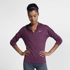 Женская беговая худи с молнией до середины груди Nike Dri-FIT Element