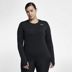 Женская футболка для тренинга с длинным рукавом Nike Pro (большие размеры)