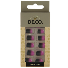 Набор накладных ногтей `DE.CO.` ombre (24 шт + клеевые стикеры 24 шт) Deco