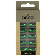 Набор накладных ногтей `DE.CO.` HOLOGRAM sea rock (24 шт + клеевые стикеры 24 шт) Deco