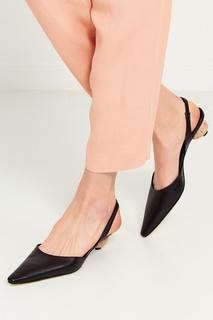Черные кожаные туфли Loewe